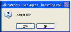 User Agent software can also receive a call.